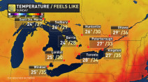 Ontario: Humidity finally declines, below seasonal temps move in
