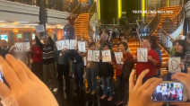Passengers stage protest after cruise ship diverted due to bad weather