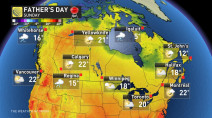 Dad's Day: Rain vs. sun, find out what gift Mother Nature will bring