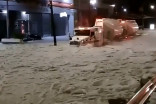 Intense hail storm in Mexico blankets city in 150 cm of ice