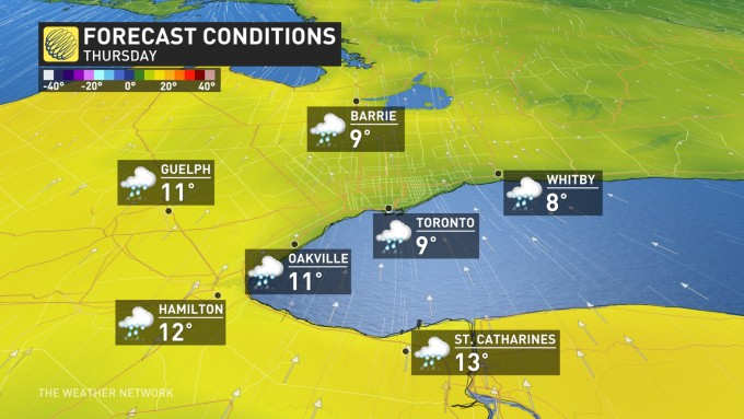 How To Make A Weather Map.The Weather Network Your Weather First The Golden Horseshoe