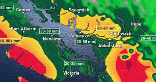 BC: Last bout of heavy rain before a much deserved longer dry spell