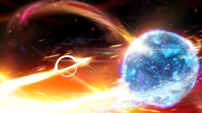 Space-time ripples may point to black hole swallowing a neutron star