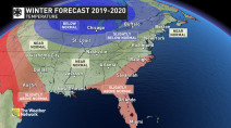 Warm and dry winter to dominate across much of U.S. south