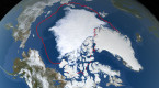 Arctic sea ice ties for 2nd smallest summer minimum on record