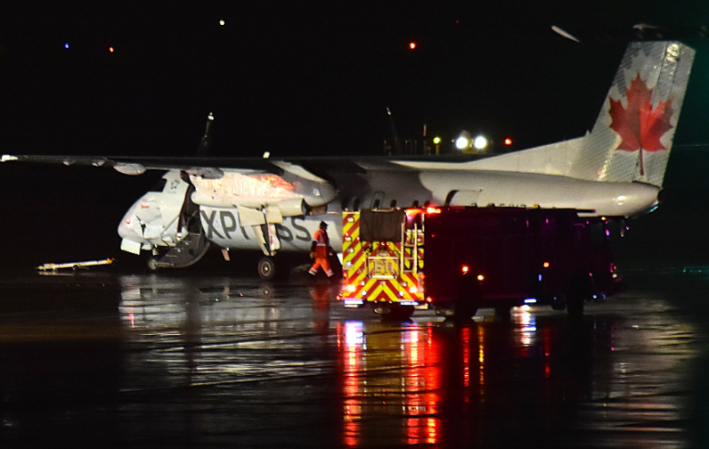 5 hurt, driver charged after fuel truck strikes plane at Pearson airport