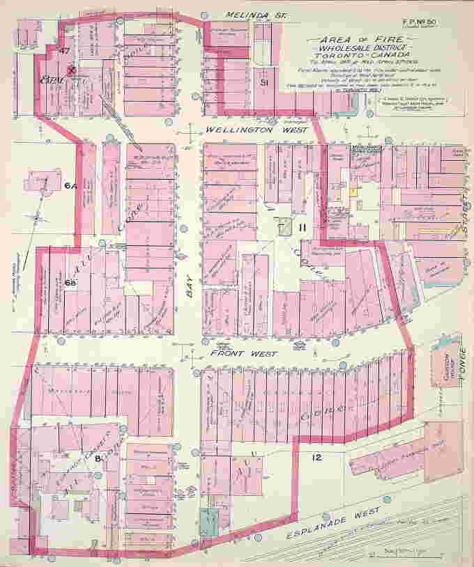 Area of Great Toronto Fire of 1904 showing the Wholesale district affected (MAPS-R-71)