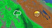 Closely watching a storm track for much-needed rain on the Prairies