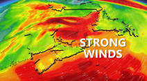 Atlantic: Prolonged wind event, gusts over 100 km/h expected