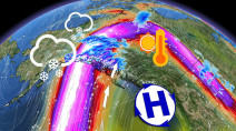 Unusual ridge of high pressure hovers over northern Canada