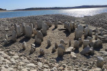 Submerged 'Spanish Stonehenge' resurfaces following intense drought