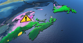 Atlantic: Round of freezing rain leads into cold week ahead