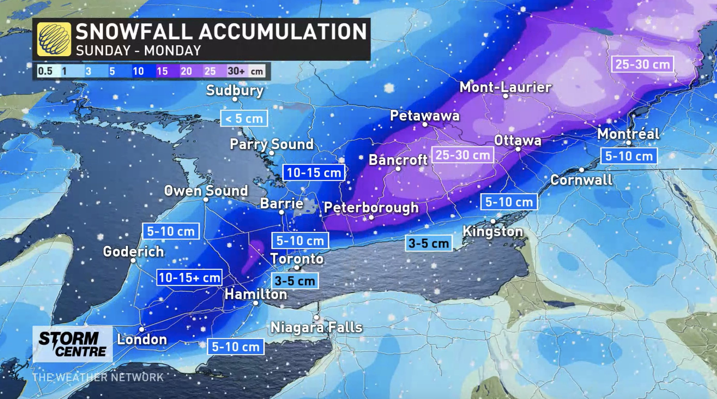 'Significant' amount of snow on the way for the GTA Sunday: Environment Canada