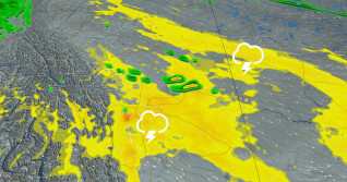 Severe storm risk creeps east of the Rockies for late week