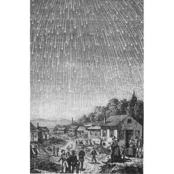 Leonids-1833-woodcut-Adolf-Vollmy