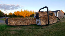 N.B. woodpile sculptor creates biggest stack ever