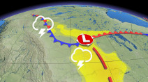 Persistent storm threat hangs over the Prairies, but with June-like warmth