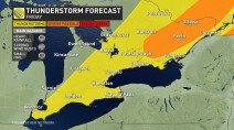 Ontario: One more day of storm risk, temperatures moderate into weekend
