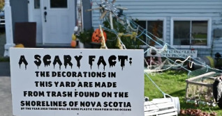 Halloween display highlights scary amount of trash on Nova Scotia shorelines