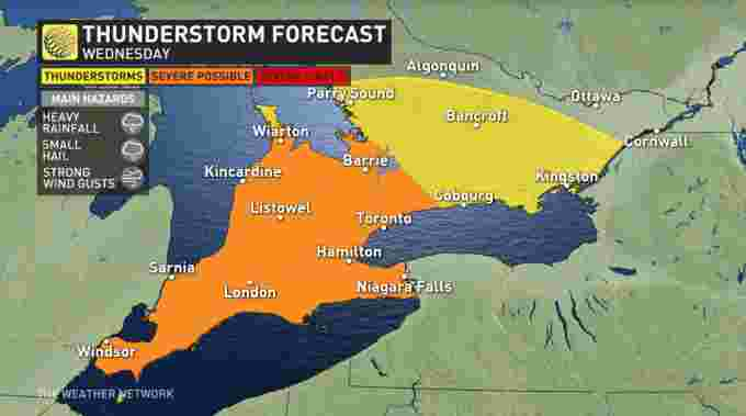 Ontario storm risk