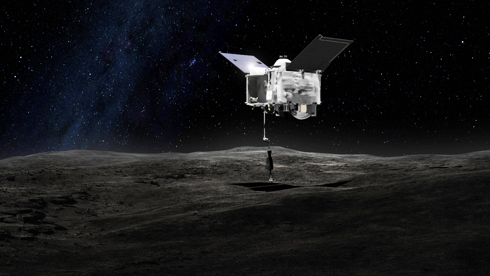 NASA's OSIRIS-REx probe successfully tags giant 'rubble pile' asteroid Bennu