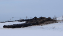 Nearly 40 Train Cars Carrying Crude Oil Derail In Manitoba