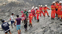Heavy rains unleash deadly landslide onto Myanmar mine, killing at least 160