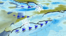 Colder air, periods of lake-effect snow set-up over Ontario this week
