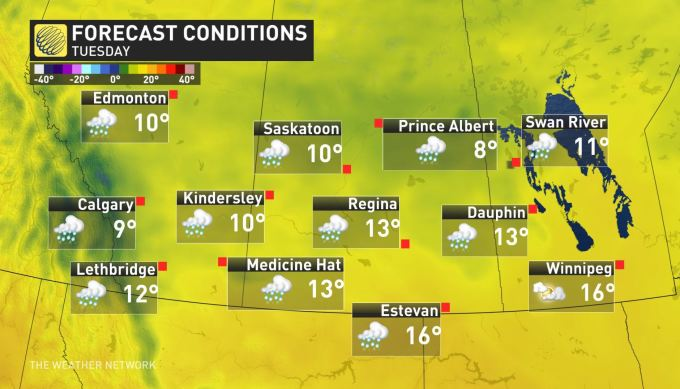 The Weather Network - Widespread rain, cool pattern