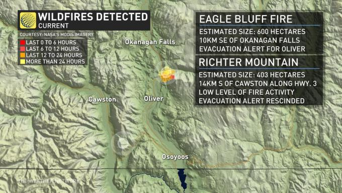 The Weather Network - Smoke from wildfire in Okanagan Valley ... on