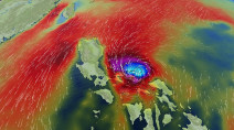 Goni targeting the Philippines as the 'strongest storm' in 2020