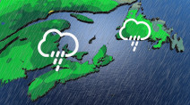 Stormy few days ahead for Atlantic Canada, with heavy rains and gusty winds