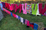 How cold is too cold to dry your clothes out on the line?