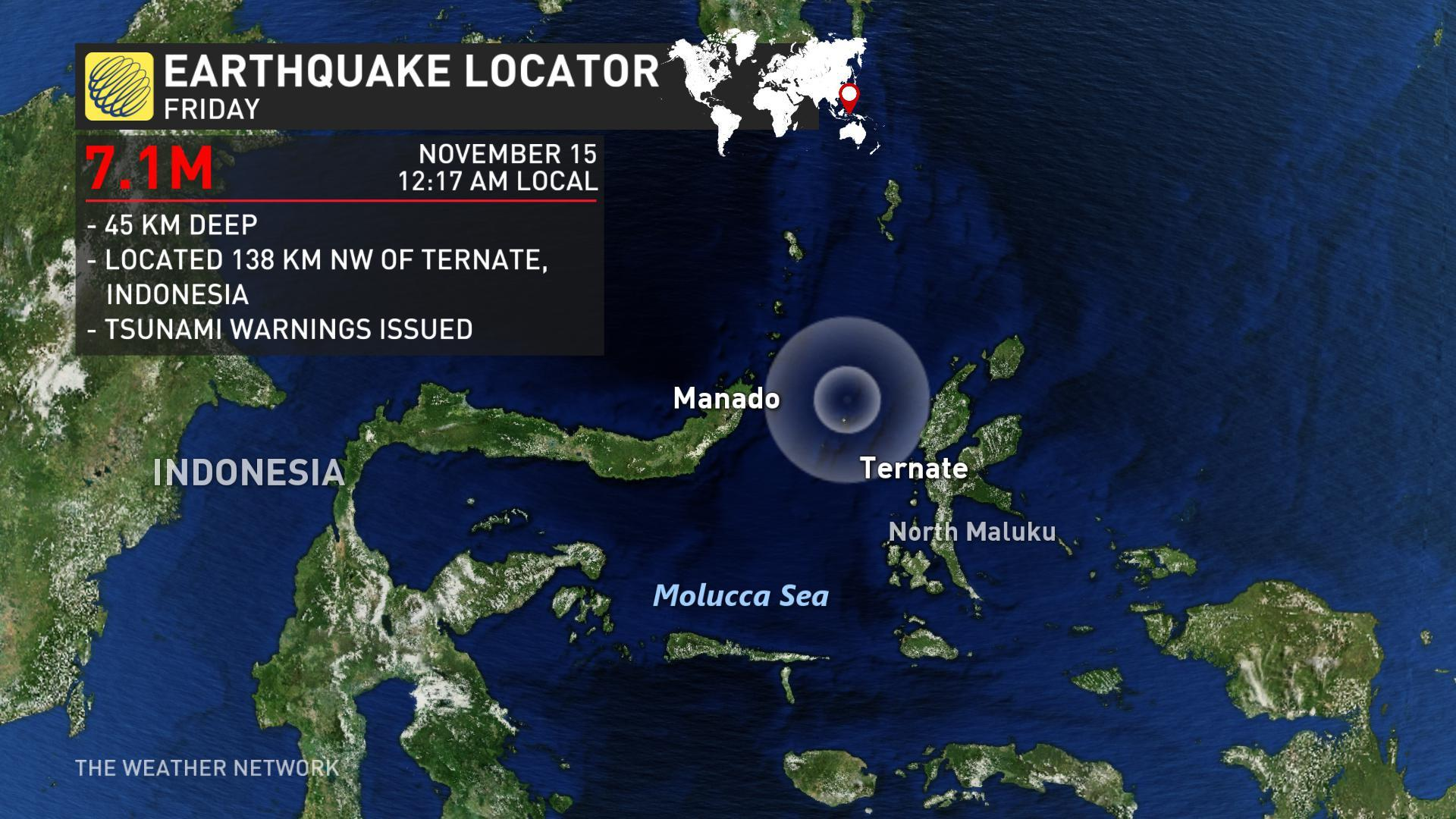 Strong quake hits Indonesia sea; tsunami risk reported