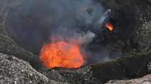 At the edge of a violent lava lake: Photos