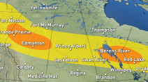 Prairies: Severe storms ongoing after brief tornado warning