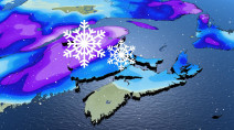 Atlantic Canada: Swath of spring snow as system delivers wintry weather