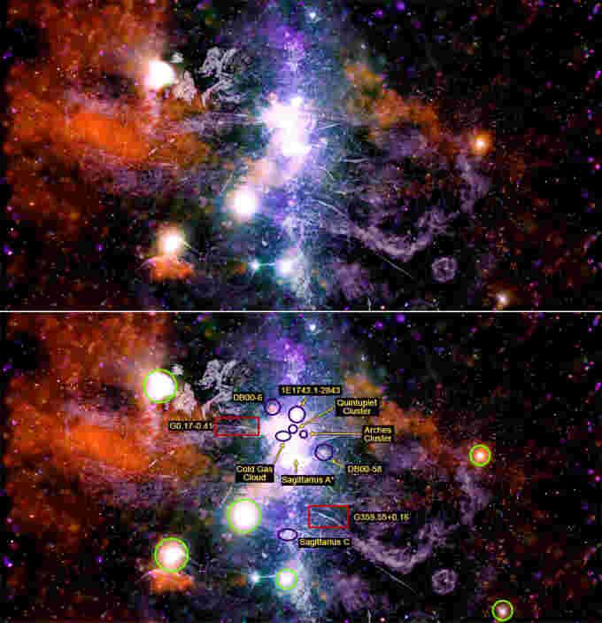 Compuesto del Centro Galáctico NASA-CXC-UMass-QDWang-NRF-SARAO-MeerKAT