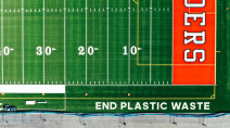 Adidas builds football field using 1.8 million recycled plastic bottles