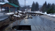"""Historic"" storm triggers mudslides, sinkhole, and destroys homes in Alaska"