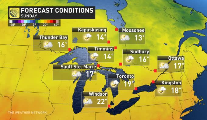 The Weather Network - Ontario: Fall-like temperatures