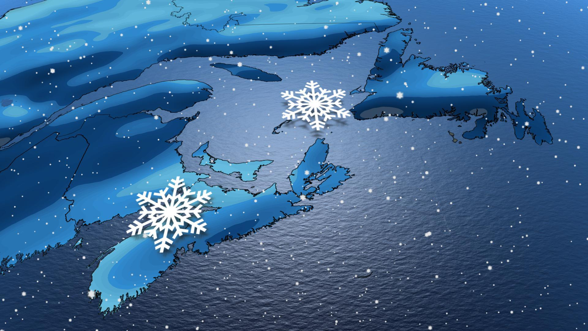 Atlantic: Incoming low threatens substantial amounts of snow, strong winds