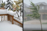 How one storm brought snow, record-breaking heat, and a 50ºC spread