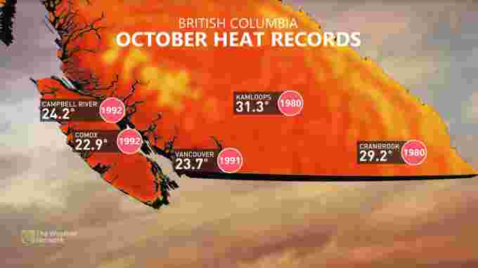 Oct heat records