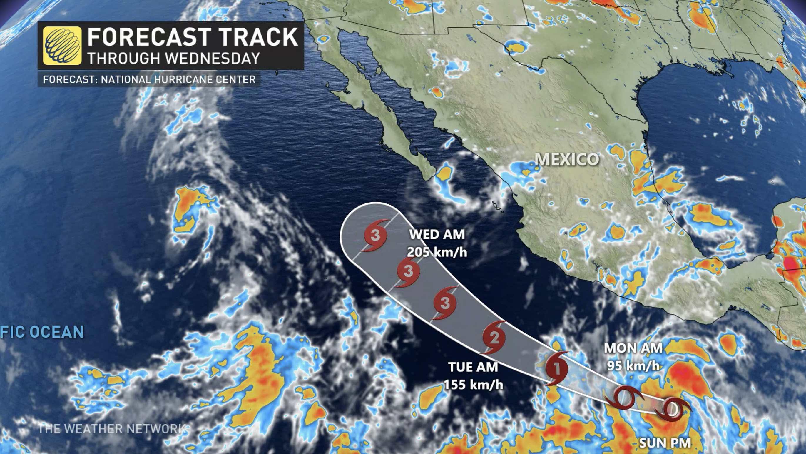 Hurricane Genevieve loses strength off Mexico