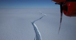 Iceberg twice the size of Toronto breaks off of Antarctic ice shelf