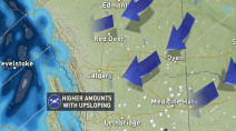 Travel to be impacted by significant snowfall in parts of Alberta Tuesday