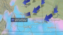 Tricky Tuesday commute as significant snow targets Alberta