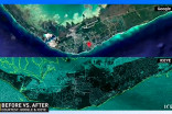 MUST SEE: Chilling satellite images show Grand Bahama before and after Dorian