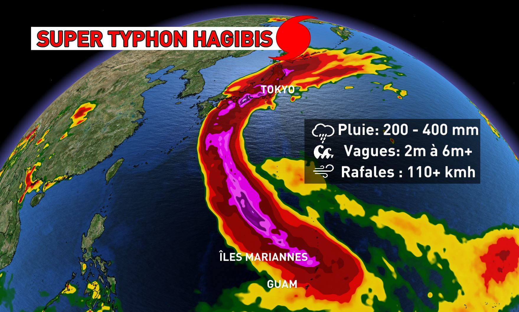 Le typhon Hagibis fait au moins 56 morts, 110.000 secouristes mobilisés — Japon